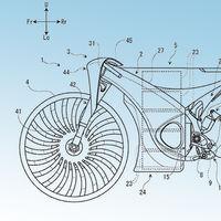 Las patentes de la posible moto eléctrica de Suzuki muestran un concepto cercano a una bicicleta