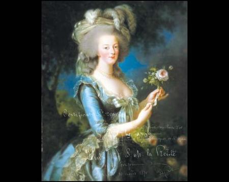 Retrato de la reina María Antonieta