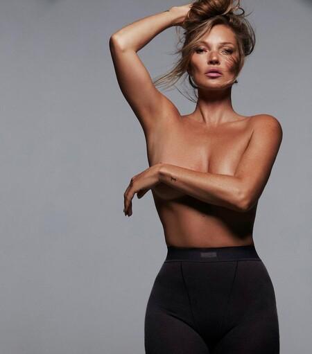 Kate Moss vuelve a protagonizar una campaña de moda, esta vez gracias a Kim Kardashian y a su firma Skims