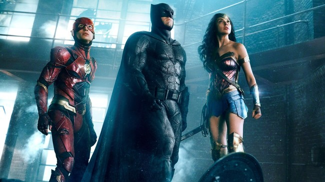 Flash, Batman y Wonder Woman en Justice League