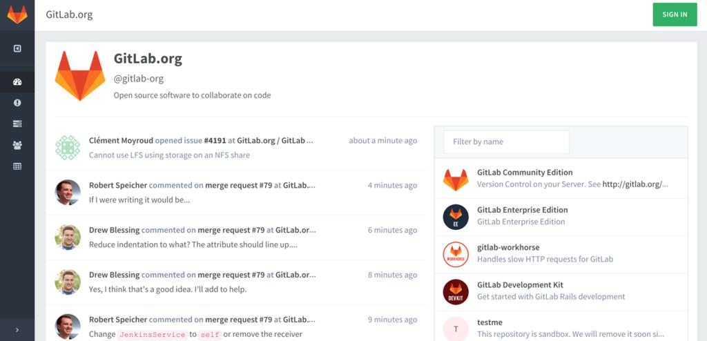 Gitlab Screenshot December 2015