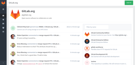 Gitlab Screenshot December 2015