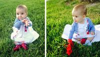 La foto de tu bebé: Valeria en el parque en otoño
