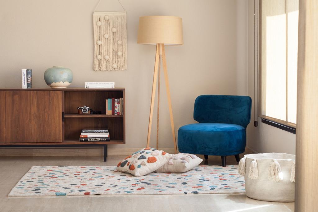 13 ambientes, con accesorios textiles de Lorena Canals, en un hogar sostenible y con estilo