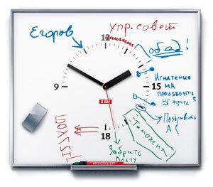 Reloj con anotaciones