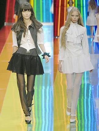 Karl Lagerfeld inventa unas medias-pantalón