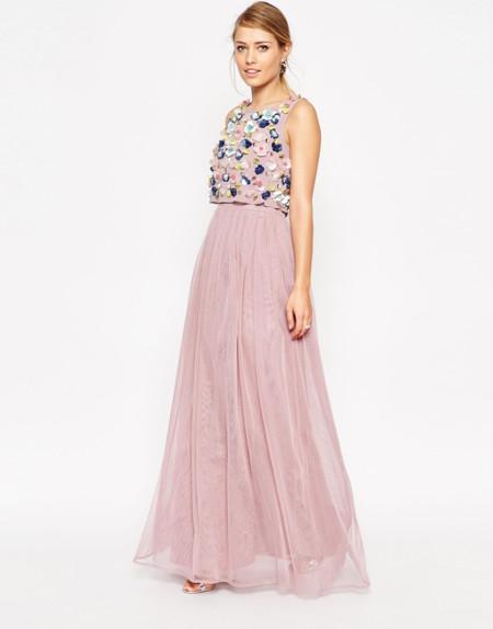 Vestido Maxi Flores 3d