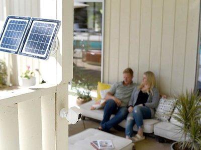 Esta cámara de seguridad en HD funciona con energía solar para que nunca te quedes sin vigilancia