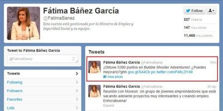Cuidado con qué aplicaciones o juegos asocias tus cuentas sociales, el caso de la Ministra de Empleo @FatimaBanez
