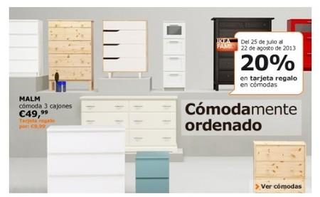 Ikea, al comprar cómodas te dan un cheque regalo con tu