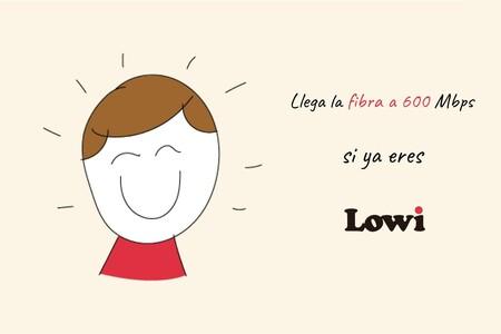 Lowi ya ofrece fibra a 600 Mbps con nuevas tarifas de hasta 50 GB, pero solo para actuales clientes