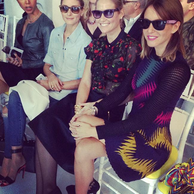 Olivia Palermo, Fiona Ferrer y Vega Royo-Villanova con gafas de sol