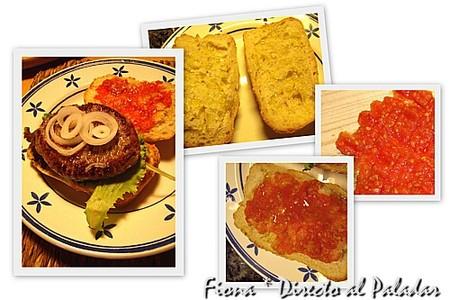 Una hamburguesa muy sana: burguer tomaca