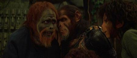 'El planeta de los simios', Burton bajo mínimos
