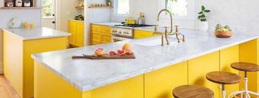 ¿A favor o en contra? Un toque de color (amarillo vibrante) en la cocina