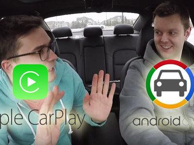 Android Auto se enfrenta a Carplay de Apple en vídeo, ¿quién ganará?