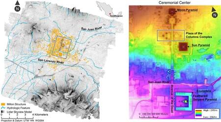 Mapa Lidar Valle De Teotihuacan