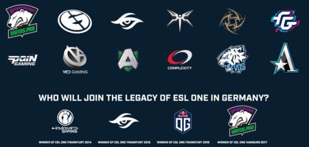 Repasamos los 12 equipos que estarán en la ESL One Hamburgo de Dota 2