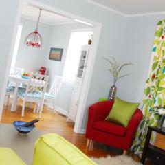 Foto 4 de 5 de la galería un-salon-en-rojo-y-verde en Decoesfera
