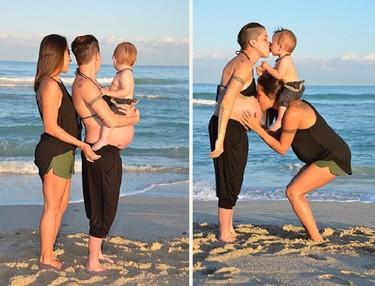 Una pareja de mamás lesbianas convierte en viral las imágenes de cómo crearon su familia