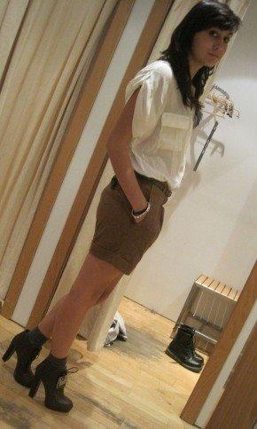 camisa blanca zara shorts