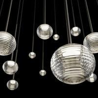 Iluminarias colgantes realizadas con vidrio soplado, fuentes Led y galardonadas con un primer premio