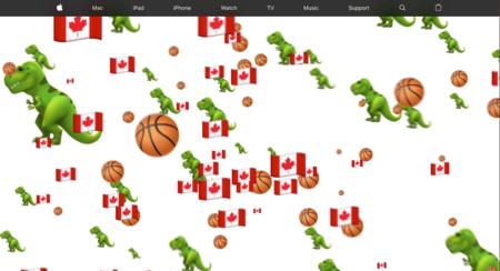 Apple también celebró la victoria de los Toronto Raptors con emoji y la bandera canadiense