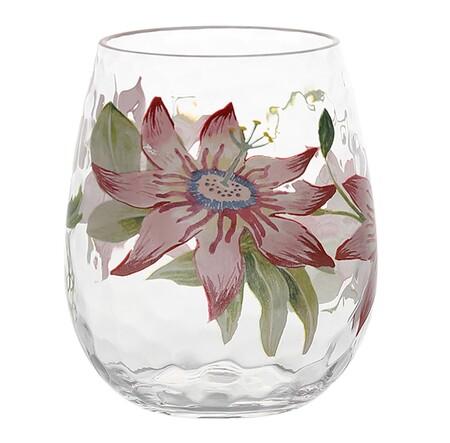 Vaso con estampado floral