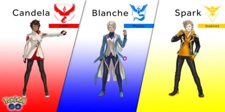 Así son los líderes de los tres equipos de Pokémon GO