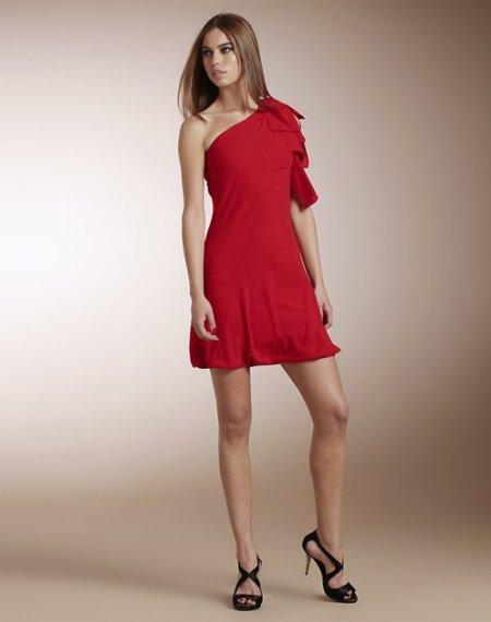 vestido rojo el corte ingles