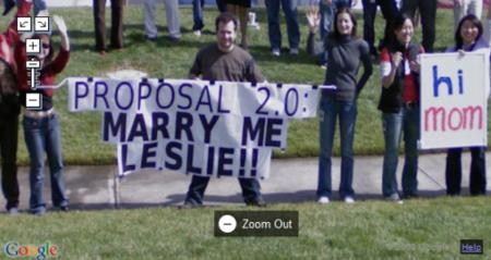 Imagen de la Semana: Propuesta de matrimonio 2.0 en Google Street View