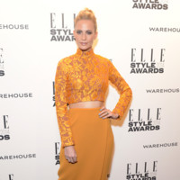Poppy Delevingne Emilia Wickstead Otoño/Invierno 2014-2015 Elle Style Awards 2014 red carpet