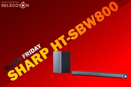 Black Friday 2020: brutal rebaja en la barra de sonido con subwoofer Sharp HT-SBW800 en Amazon a 299 euros, su mínimo histórico