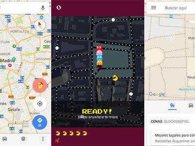 Pac-Man vuelve a Google Maps por April Fools para que uses las calles como niveles