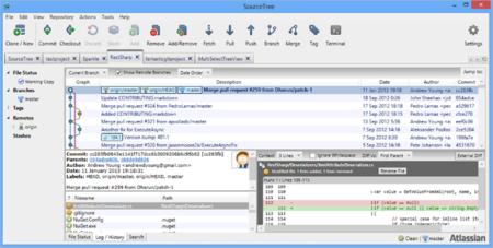 SourceTree ya disponible para Windows, cliente completo para usar Git y Mercurial