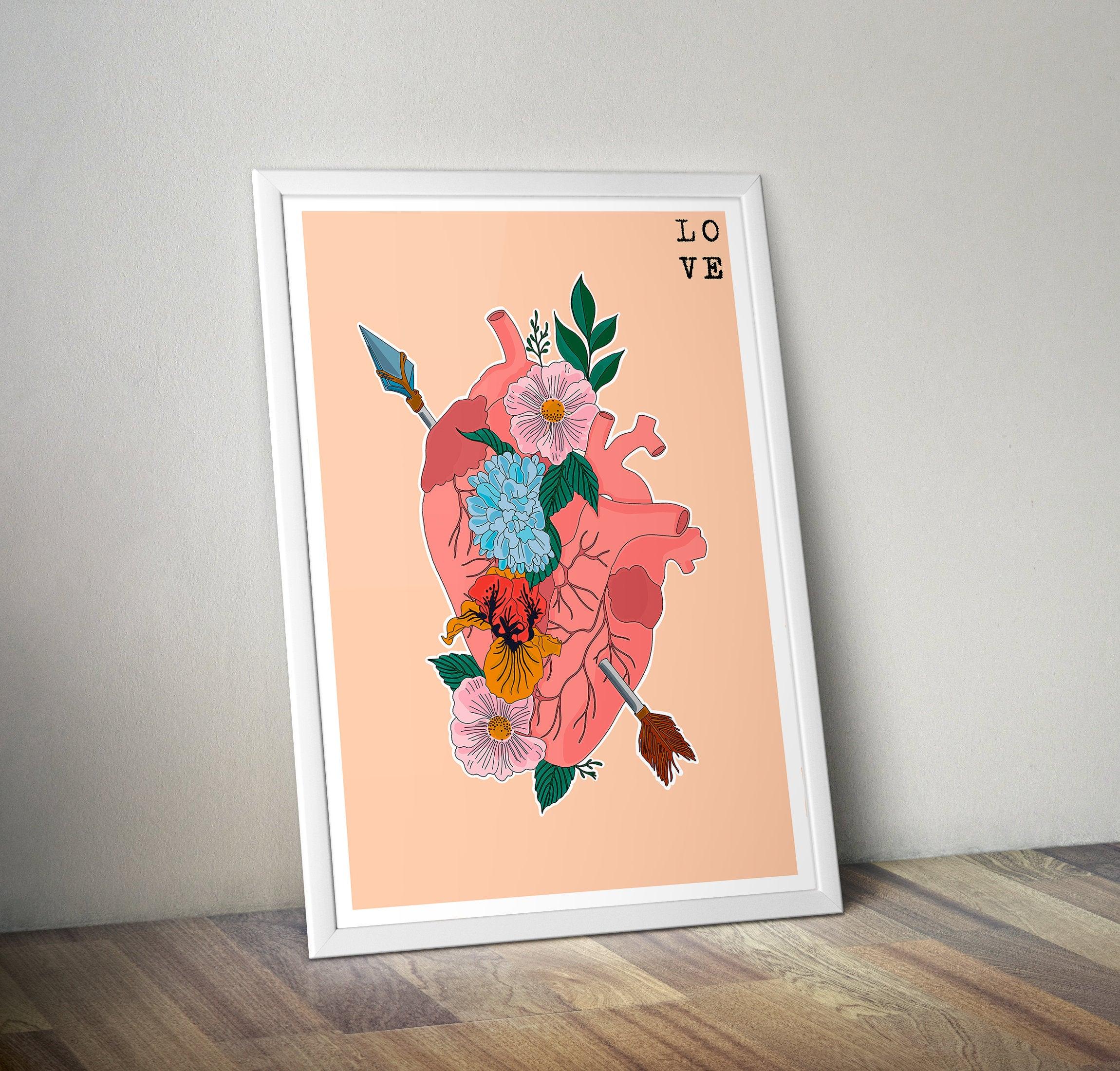 """Lámina """"Corazón&Flores"""""""