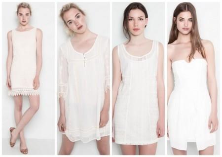 vestidos blancos baratos pull and bear
