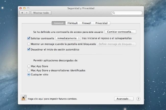 Seguridad en OS X 10.8