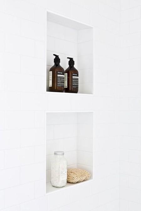 el baño después