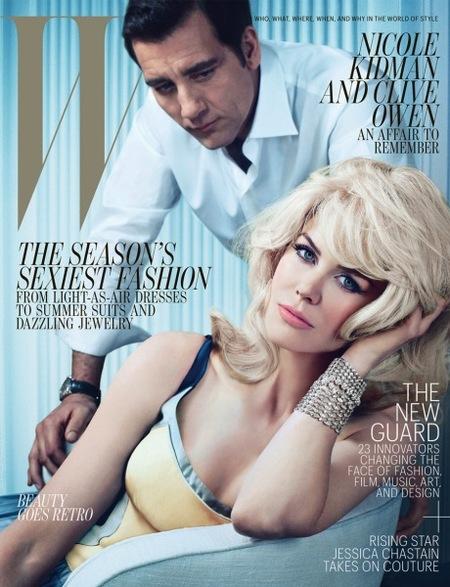 Nicole Kidman y Clive Owen, ella casi irreconocible y él potentorro como siempre
