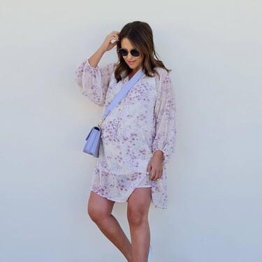 Paula Echevarría luce el vestido de H&M más bonito para estrenar los días de entretiempo