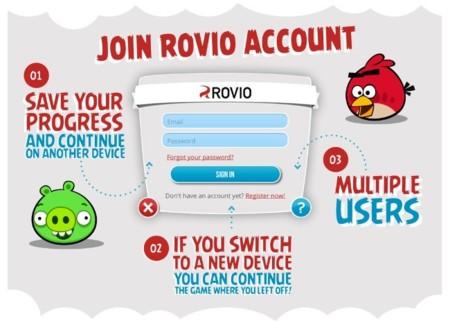 Rovio Account, la nueva opción para sincronizar el progresos de sus juegos entre dispositivos