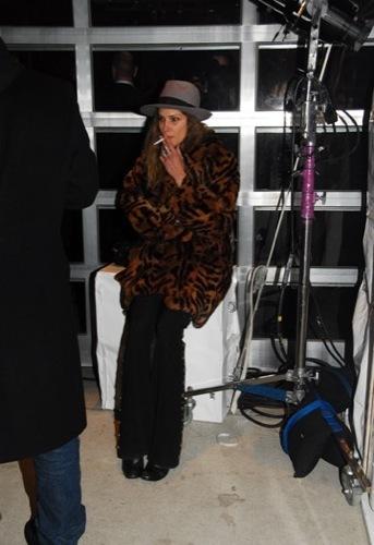 Erin Wasson en la fiesta de Louis Vuitton a Stephen Sprouse en el SoHo