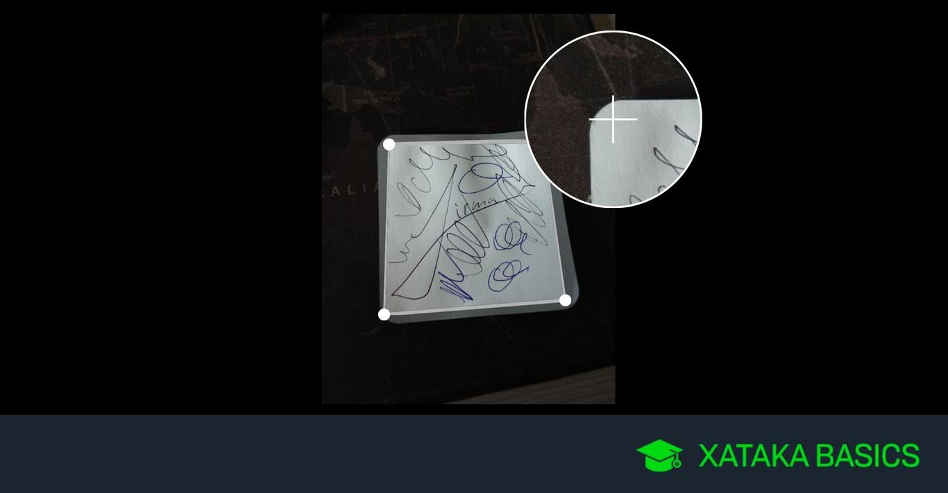 Cómo recortar documentos en Google Fotos para usar la app como escáner