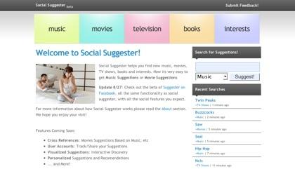 Social Suggester, recibiendo sugerencias para descubrir nuevos contenidos