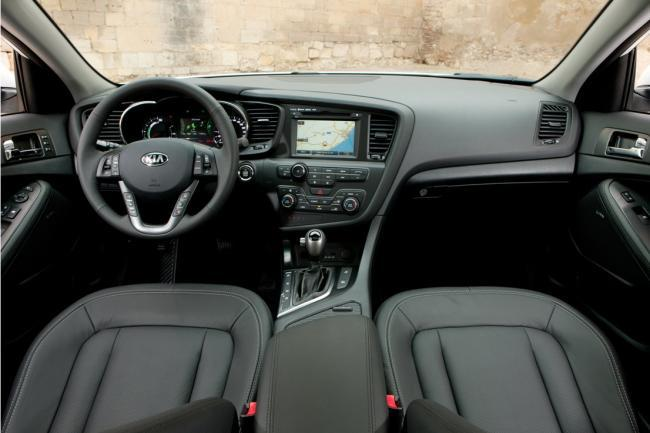 Kia Optima híbrido - interior