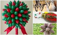 No tires tus bombillas, utílizalas para decorar en Navidad