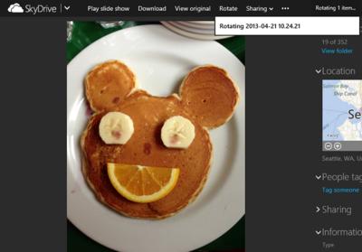 SkyDrive permite rotar fotos desde la web, editar archivos de texto y más mejoras