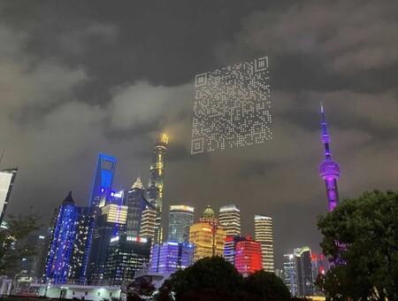 En China los drones forman códigos QR gigantescos para que los espectadores se descarguen un videojuego