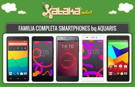 Así queda el catálogo completo de smartphones bq Aquaris